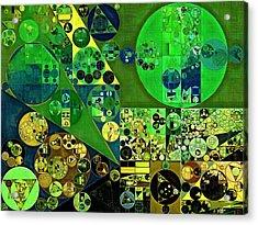 Abstract Painting - June Bud Acrylic Print by Vitaliy Gladkiy