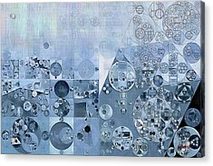 Abstract Painting - Light Steel Blue Acrylic Print by Vitaliy Gladkiy