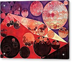 Abstract Painting - Milano Red Acrylic Print