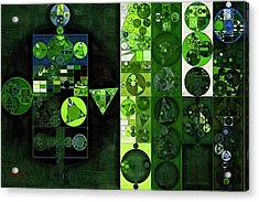 Abstract Painting - Sap Green Acrylic Print by Vitaliy Gladkiy