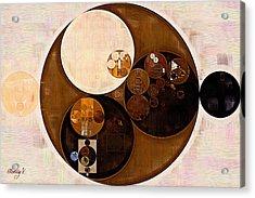 Abstract Painting - Sepia Acrylic Print by Vitaliy Gladkiy