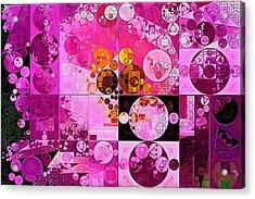 Abstract Painting - Tea Rose Acrylic Print by Vitaliy Gladkiy