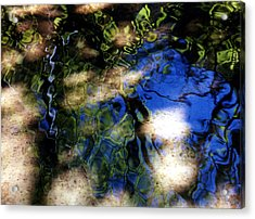 Abstract Water Blues Acrylic Print by Heather S Huston