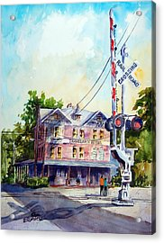 Across The Tracks Acrylic Print by Ron Stephens