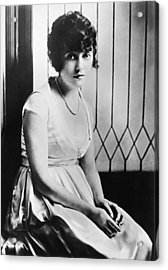 Actress Mabel Normand Acrylic Print by Underwood Archives