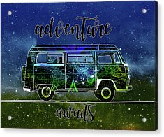Adventure Awaits World Map Design 6 Acrylic Print