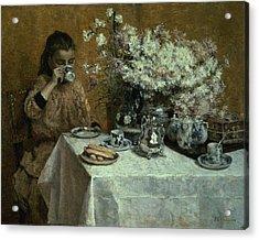 Afternoon Tea Acrylic Print by Isidor Verheyden