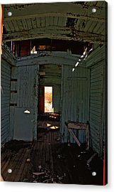 Aging Red Caboose Acrylic Print by Patrick  Flynn