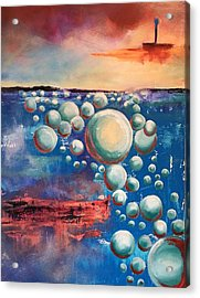 Acrylic Print featuring the painting Air by Mary Rimmell