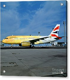 Airbus A319-131, British Airways, G-eupc, Olympic Torch Relay, O Acrylic Print by Wernher Krutein