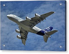 Acrylic Print featuring the photograph Airbus A380 by Tim Beach