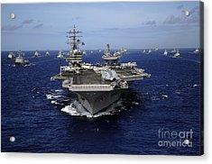 Aircraft Carrier Uss Ronald Reagan Acrylic Print by Stocktrek Images