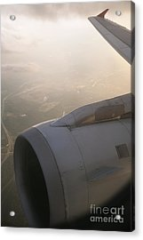Airplane Engine Acrylic Print by Shannon Fagan