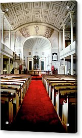 Aisle Of God Acrylic Print by Greg Fortier