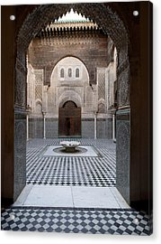 Al-attarine Madrasa Built By Abu Acrylic Print by Panoramic Images