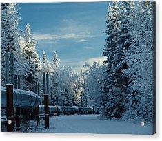 Alaska Pipeline Acrylic Print