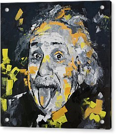 Acrylic Print featuring the painting Albert Einstein by Richard Day