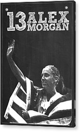 Alex Morgan Acrylic Print by Semih Yurdabak