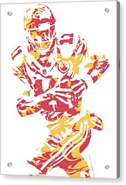 Alex Smith  Kansas City Chiefs Pixel Art Acrylic Print