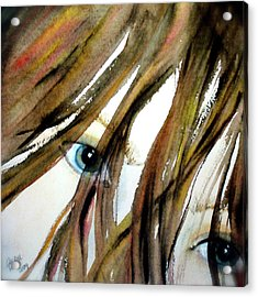 Alex's Eyes Acrylic Print by Cheryl Dodd