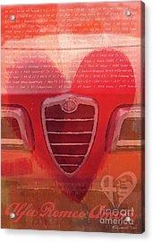 Alfa Romeo Valentine Acrylic Print