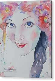 Acrylic Print featuring the painting Alisha by Mary Haley-Rocks