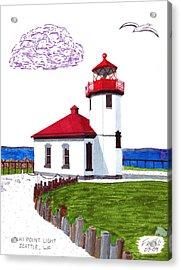 Alki Point Light Acrylic Print by Frederic Kohli