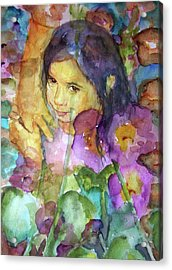 Acrylic Print featuring the painting All The Pretty Flowers by P Maure Bausch