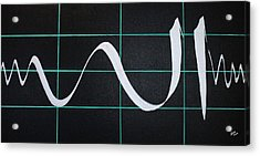 Divine Name In Cardiograph Acrylic Print
