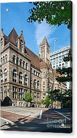 Allegheny Courthouse Acrylic Print by Amy Cicconi