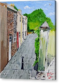 Acrylic Print featuring the painting Alleyway by Swabby Soileau