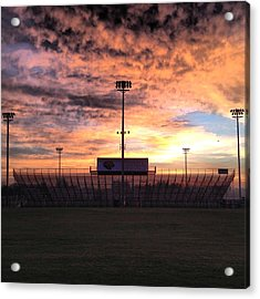 Alma High School Don Miller Field Sunrise Bleachers Acrylic Print