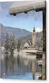 Alpine Winter Clarity Acrylic Print
