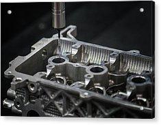 Aluminium Auto Part Inspection By Cmm Dimension Check Machine Acrylic Print by Anek Suwannaphoom