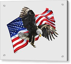 America Acrylic Print by Owen Bell