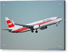 American Boeing 737-823 N915nn Phoenix Sky Harbor January 11 2015 Acrylic Print by Brian Lockett