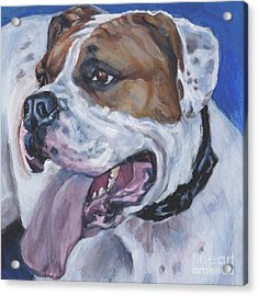 Acrylic Print featuring the painting American Bulldog by Lee Ann Shepard
