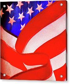 American Flag Acrylic Print by George Robinson