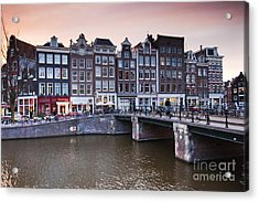 Amsterdam At Sunset Acrylic Print by Andre Goncalves