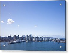 An Aerial View Of The City Of Vancouver Acrylic Print by Taylor S. Kennedy