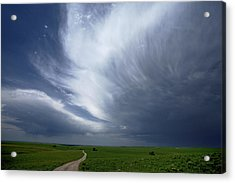 An Afternoon Thunderstorm Coming Acrylic Print by Jim Richardson
