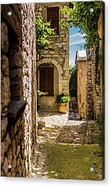An Alley In Saint Paul De Vence, South Of France. Acrylic Print
