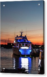 Acrylic Print featuring the photograph An Evening In Newport Rhode Island by Suzanne Gaff