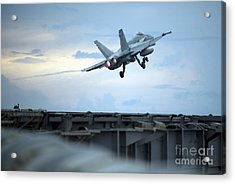 An F A-18 Launches Acrylic Print by Celestial Images