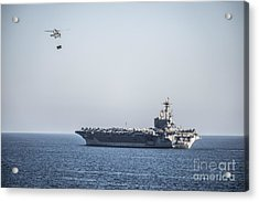An Mh-60s Sea Hawk Helicopter Acrylic Print by Celestial Images