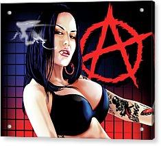 Anarchy Acrylic Print by Brian Gibbs