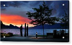 Acrylic Print featuring the photograph A Sunset Story by John Poon