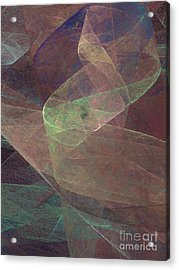Acrylic Print featuring the digital art Andee Design Abstract 66 2017 by Andee Design