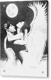 Angel Embrace Acrylic Print by Bruce Lennon