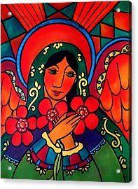 Acrylic Print featuring the painting Angel Of Peace by Jan Oliver-Schultz